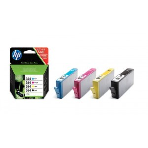 Cartouche d'encre HP 364 CMYB multipack