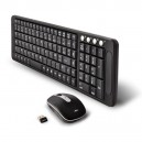 Clavier souris Advance CLS-COMP-BK Wireless Compact DesktopKit Optique RF2.4GHz