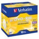 10 DVD+RW Verbatim