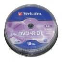 10 DVD+R Double Couche 8.5Go Verbatim