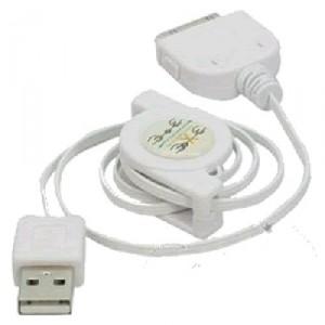 Câble USB enrouleur pour Iphone