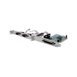 Carte pci 2 x série DB9 + 1 x DB25 channel+