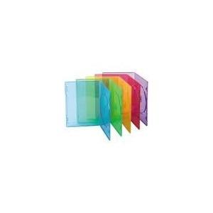 Boitier vide cd slim couleur pack de 10