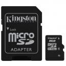 Kingston microSD 8 Go High Capacity + adaptateur SD