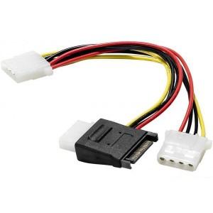 Adaptateur d'alimentation SATA vers 3 connecteurs d'alimentation Molex