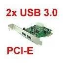 Carte pcie usb3 2ports chipset nec HPU-301NC